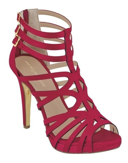 Zapatos Cklass Rojo Satin 947-15 Primavera Verano 2019 Nuevo