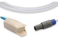 Kit Com 10 Cabos Sensor Omnimed Clip Adulto Spo2
