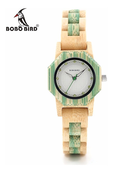 Relógio Feminino Bambu Analóg O11 Bobo Bird + Frete
