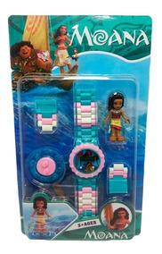 Relógio Digital Infantil Moana + Lego Moana