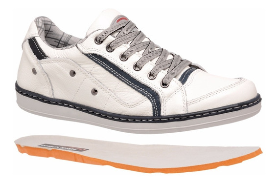 Kit 2 Sapatênis Casual Masculino Couro Sapatogel Tchwmshoes
