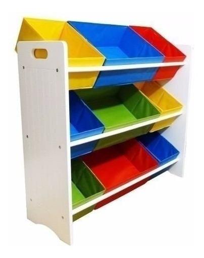 Baú Estante De Brinquedos Organização Quarto Infantil Caixas