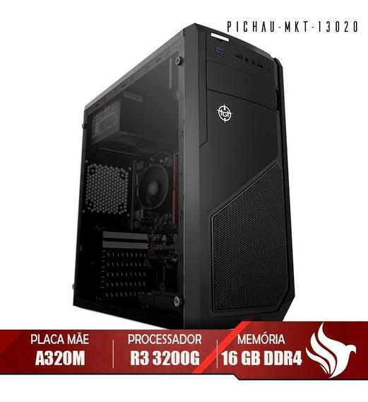 Computador Home Pichau, Amd Ryzen 3 3200g, 16gb Ddr4, Hd 1tb