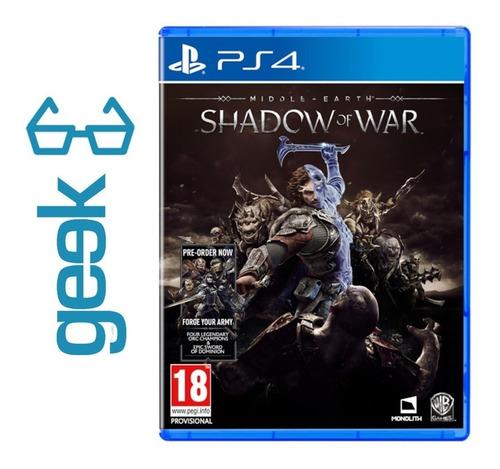 Middle Earth Shadow Of War Ps4 - Fisico Nuevo - Ecuador Geek