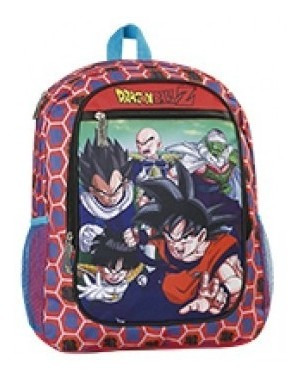 Mochila Dragon Ball De Espalda 17 Plg Top3
