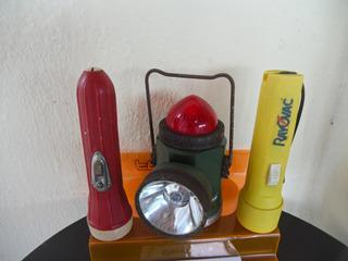 Lote 3 Antiga Lanternas Pilha Rayovac / Ferroviária Anos 70