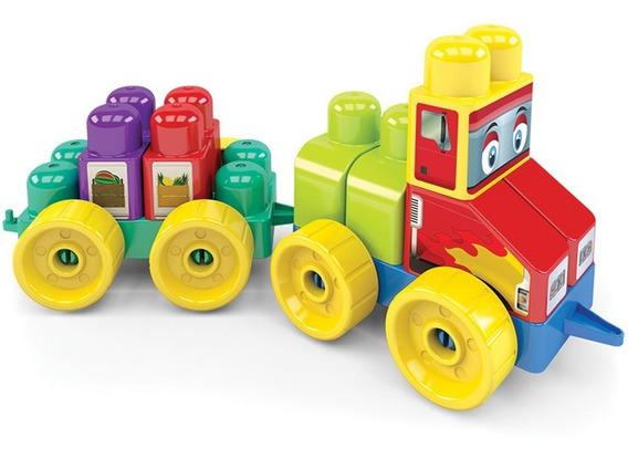 Trem Cargo Brinquedo Educativo Blocos De Montar Criança