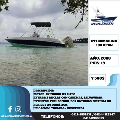 Lancha  Intermarine 180 Open Lv474