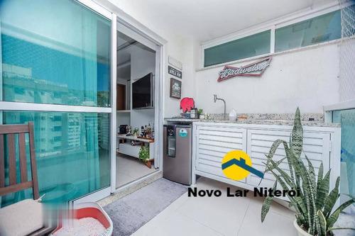 Imagem 1 de 15 de Excelente Apartamento Todo Montado Com Varanda Gourmet Em Icaraí. - 322