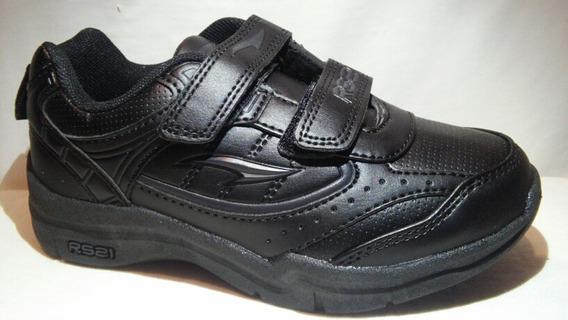 Zapatos Escolares Rs21 Con Trenza Y Cierre Magico