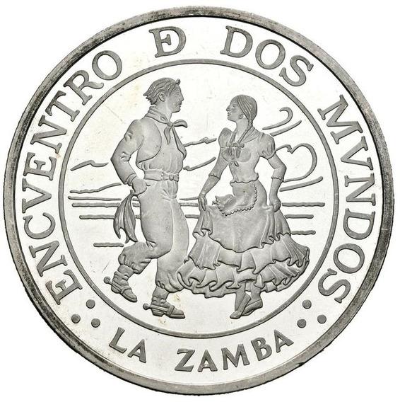 Spg Argentina 25 Pesos 1997 Plata Encuentro Dos Mundos Zamba