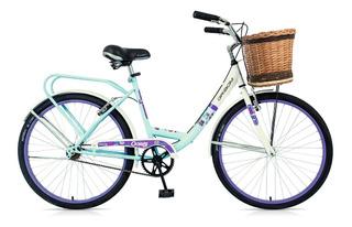 Bicicleta Dama Rodado 26 Gribom 3510 Oasis Canasto Mimbre