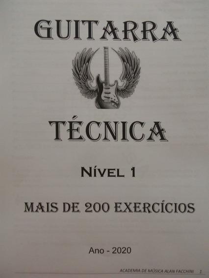 Guitarra Técnica Nível 1 Mais De 200 Exercícios