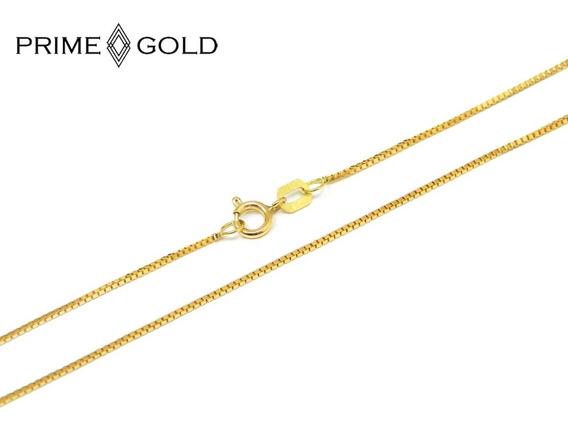 Corrente Em Ouro 18k Feminina Veneziana 40cm 0,70mm