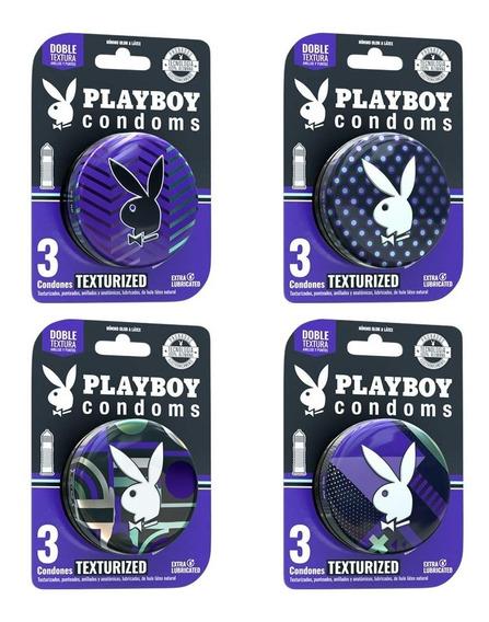 12 Condones Texturizados Colección 2018 En 4 Paquetes