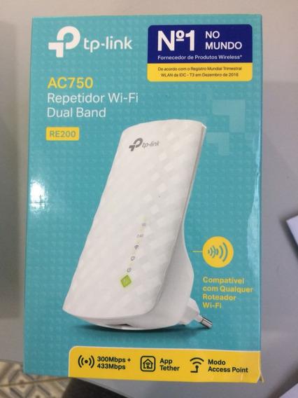 Repetidor De Sinal Tp-link Re200 Ac750 Dual Band 2.4 / 5ghz