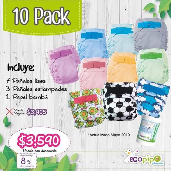 Pañales Ecológicos Ecopipo (10 Pack)