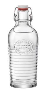 Botella De Vidrio Bormioli 1,2l Con Tapon Y Asa