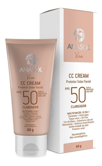 Anasol Cc Cream Facial Fps 50 60 G Clareador