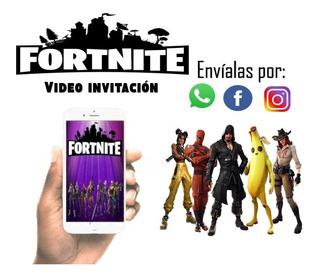 Invitación Digital Fortnite Cumpleaños A Pedido