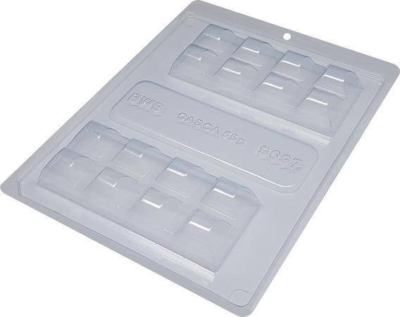 Forma Silicone Bwb Barra Tablete 3 Partes Confeitaria
