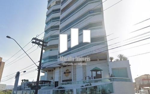 Apartamento Com Vista Mar E Sacada Gourmet No Caiçara Em Praia Grande Sp.