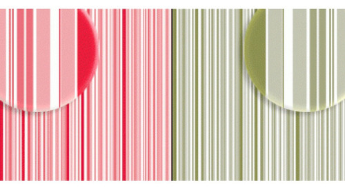 Imagem 1 de 2 de Repeteco - Duo Básico Listras Vermelho/verde - Tulipa
