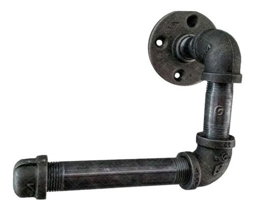 Imagen 1 de 5 de  Lujoso Porta Rollo Industrial Níquel Antiguo
