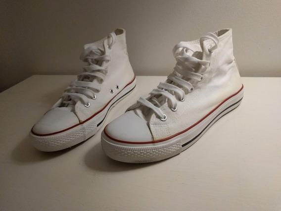 Zapatillas Botita Blancas Para Mujer