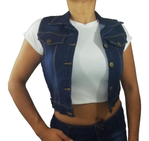 Chaleco Mezclilla Casual Fresco Jeans Ropa Mujer Hso