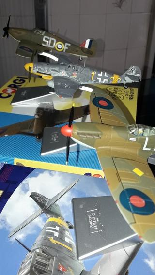 Hawker Hurricane + Me Bf109g-2 + Spitfire Mk.1 Corgi Diecast