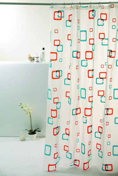Cortina Box Banheiro Estampada 1,60 X 1,80m Bella Casa