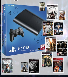 Ps3 Con Juegos 35full/500gb/2joystick/consultar!!!