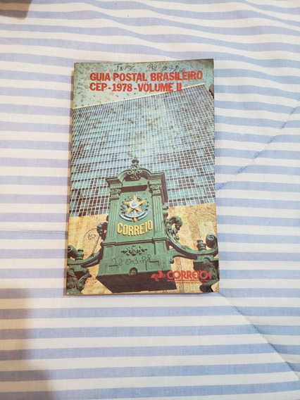 Revista Guia Postal Brasileiro Cep 1978 Volume 2 Correios