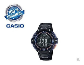 Relógio Casio Sgw 100 2b Bússola Termômetro Caixa E Manual