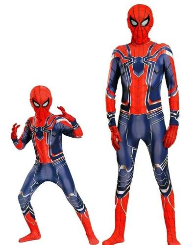 Imagen 1 de 7 de Disfraz Spiderman Hombre Araña 2019 Con Guantes Y Mascara