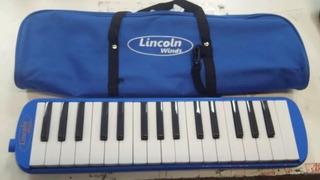 Flauta Melódica Piano 32 Teclas Notas Lincoln Wind Me32s-sb