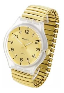 Reloj Kosiuko 7492 Malla Acero Elastizada Extensible Promo!!