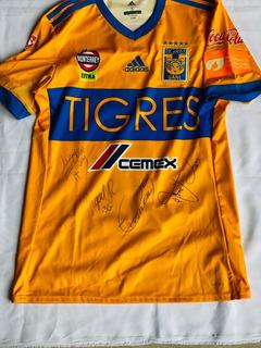 Jersey Tigres Uanl Clásico 113 Vargas Utileria Autografeado