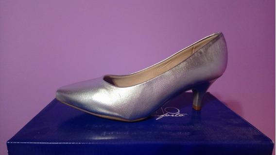 Zapatos De Fiesta Plateados - Beira Rio Talle 37