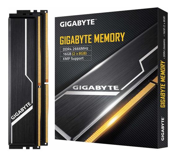 Memoria Ram 16gb Gigabyte 2666mhz Ddr4 (2x8gb) Kit (gp-gr26c16s8k2hu416)