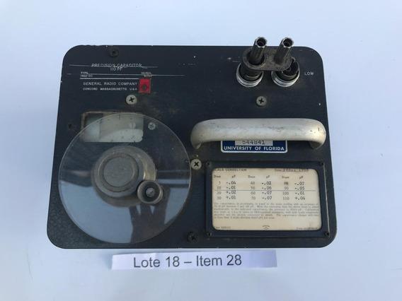 Capacitor De Alta Precisão General Radio Company 110pf