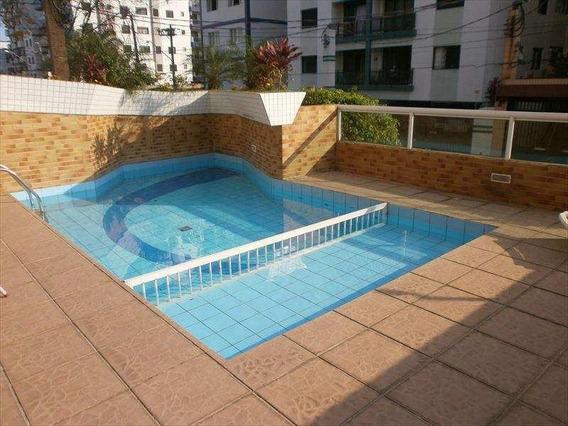 Apartamento Em Vila Guilhermina, Praia Grande/sp De 90m² 2 Quartos À Venda Por R$ 395.000,00 - Ap341177