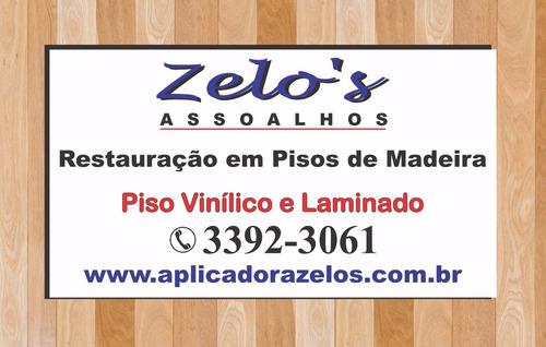 Imagem 1 de 2 de Restauração Em Pisos De Madeira, Piso Vinílico E Laminados.