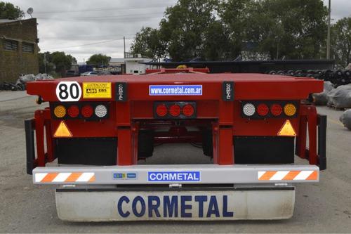 Semirremolque Porta Contenedor Cormetal,okm, 1+1+1.