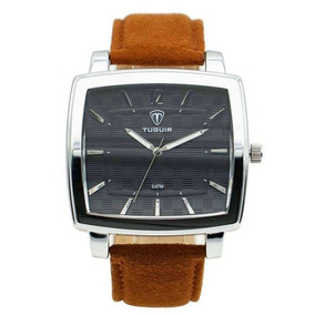 Relógio Masculino Tuguir 5436g Marrom C/ Garantia E Nf