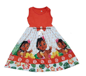 Vestido Infantil Moana E Moana Baby Fab1