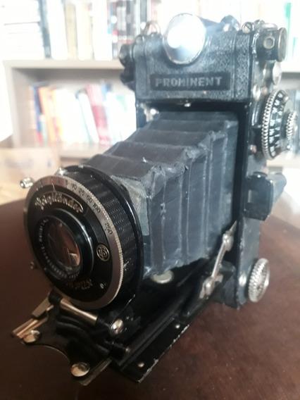 Câmera Voigtlander Prominent 6x9 Heliar 10.5cm