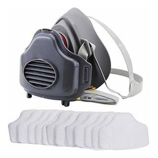 Mascara De Respirador De Polvo Pm25 Con Media Cara Filtro Re