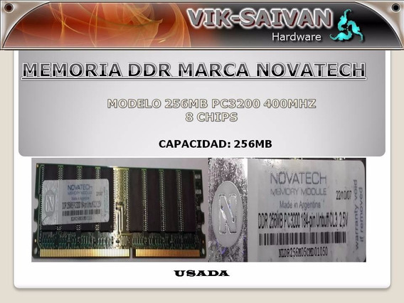Memoria Ddr Novatech 256mb Pc-3200 400mhz 8 Chips 40